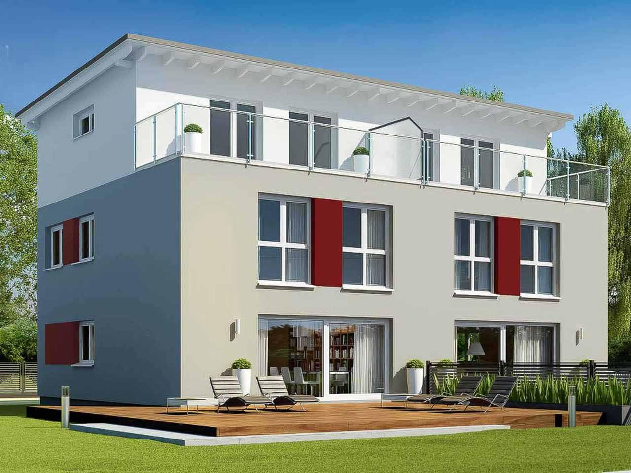 Zweifamilienhaus Funktionale 176 - ekodom Hausbau