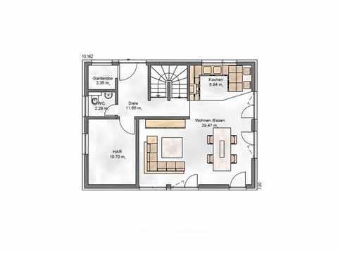 Einfamilienhaus Vielseitige 125.1 - ekodom Hausbau Grundriss EG