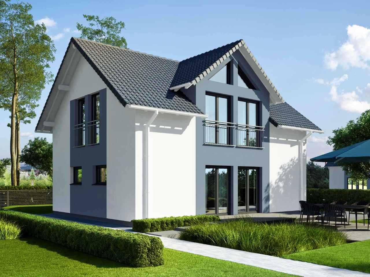Einfamilienhaus Vielseitige 125.1 - ekodom Hausbau