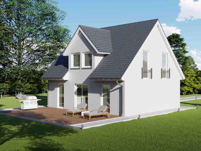Einfamilienhaus mit 125m² und Trapezgaube - VODIES Massivhaus