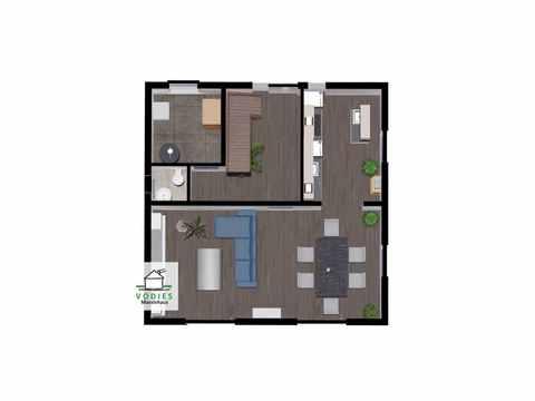 Stadtvilla mit 124m² - VODIES Massivhaus Grundriss EG