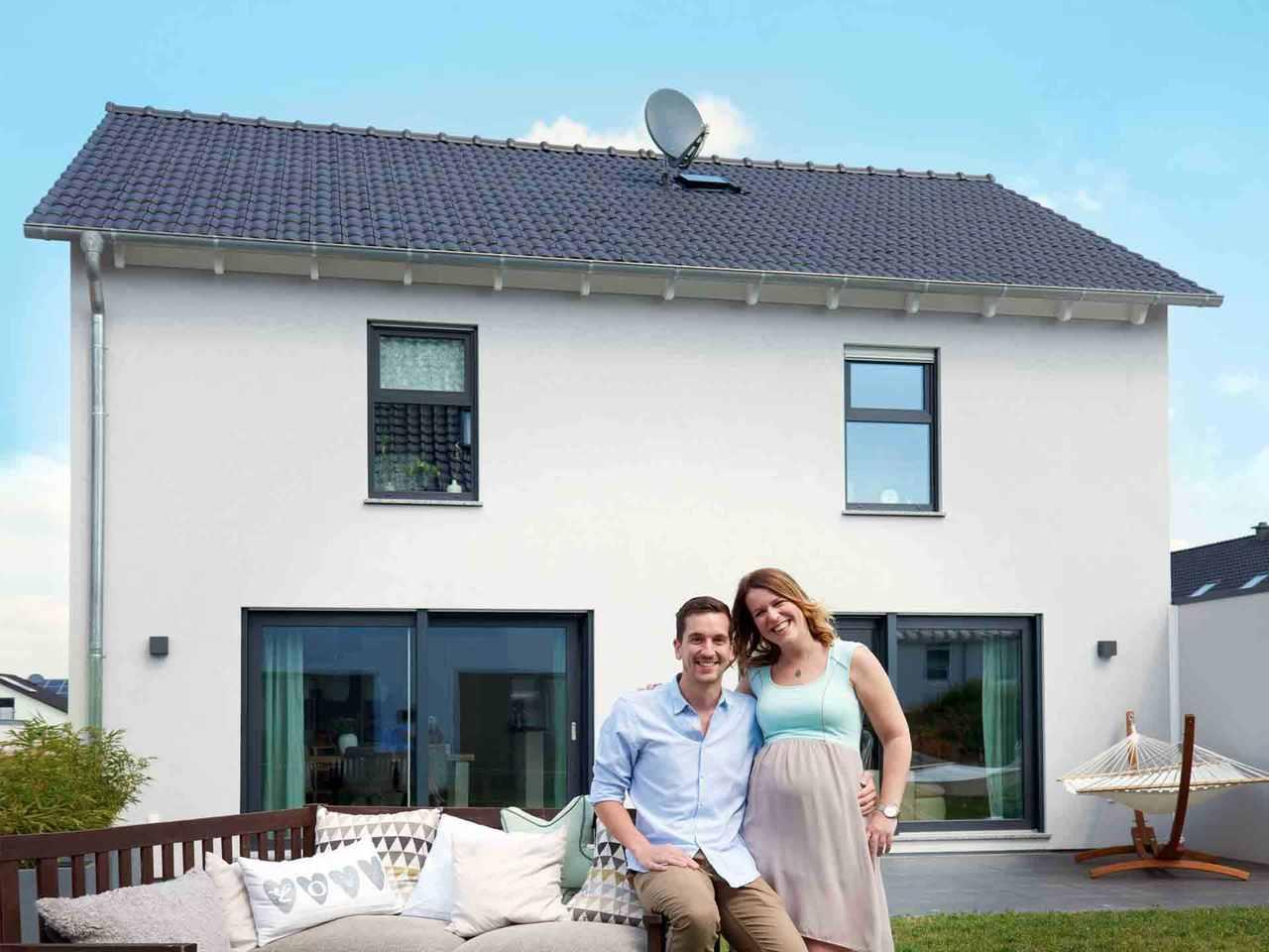 Einfamilienhaus Juna - Fingerhut Haus Terrasse mit Familie