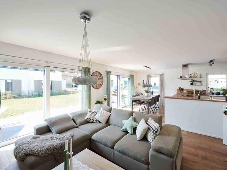 Einfamilienhaus Juna - Fingerhut Haus Wohnzimmer