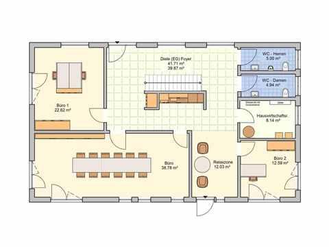 Pultdachhaus Tasko - Fingerhut Haus Grundriss EG