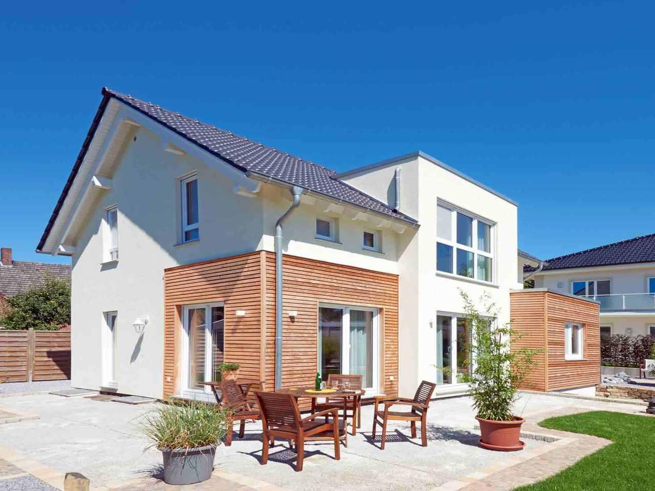 Einfamilienhaus Solaris - Fingerhut Haus Terrasse