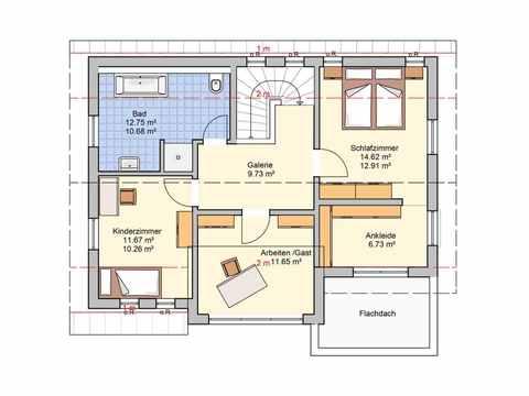 Einfamilienhaus Solaris - Fingerhut Haus Grundriss DG