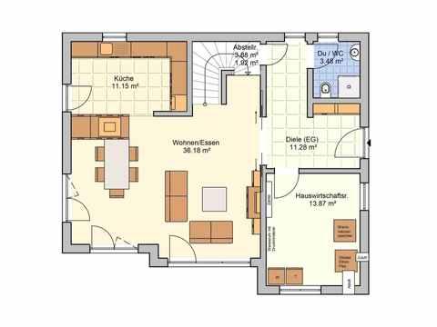 Einfamilienhaus Solaris - Fingerhut Haus Grundriss EG