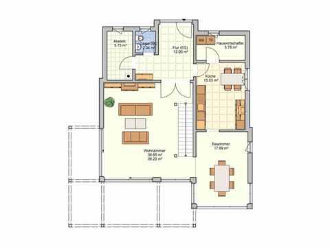 Kubus Haus Bela - Fingerhut Haus Grundriss EG