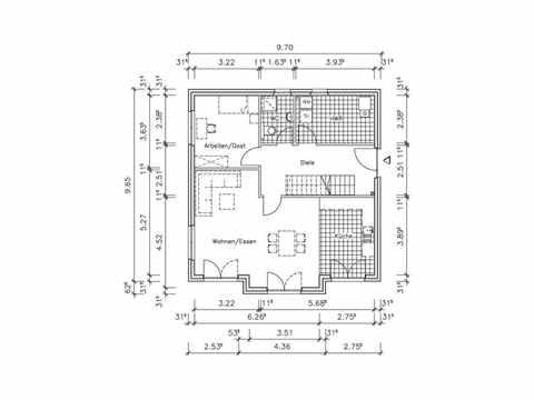 Stadthaus S-156 - NURDA-Hausbau Grundriss EG
