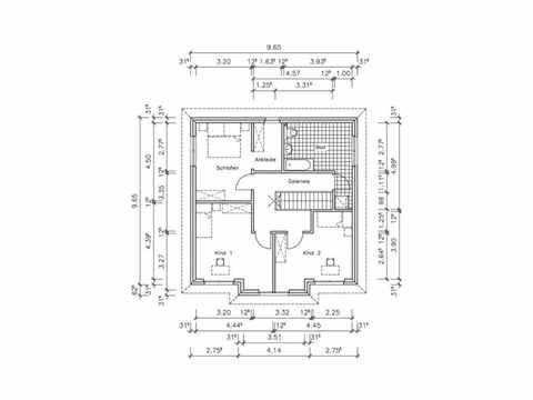 Stadthaus S-156 - NURDA-Hausbau Grundriss OG
