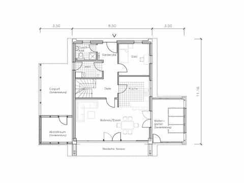 Studiohaus S1001-148 - NURDA-Hausbau Grundriss EG