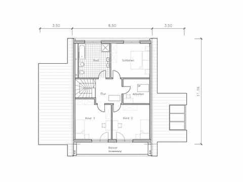 Studiohaus S1001-148 - NURDA-Hausbau Grundriss OG