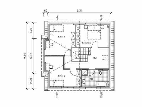 Friesenhaus FS-148 - NURDA-Hausbau Grundriss OG