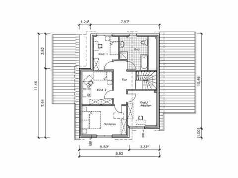 Studiohaus S-146 - NURDA-Hausbau Grundriss OG