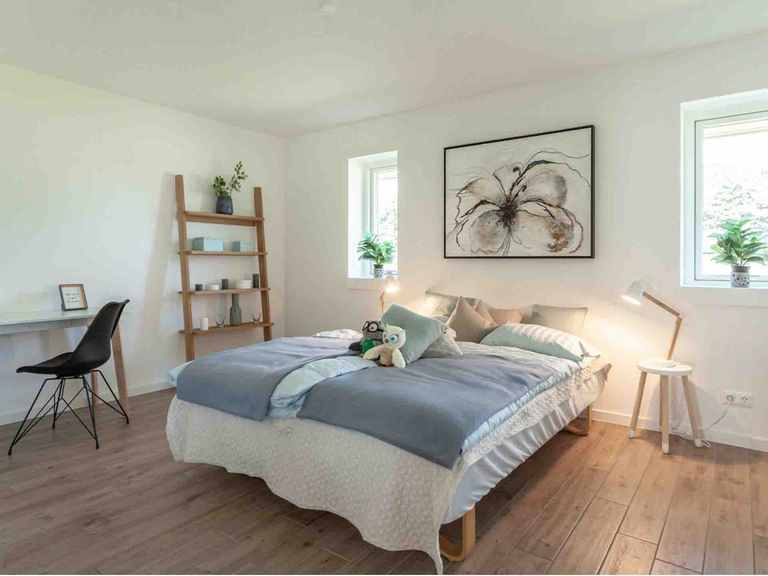 Winkelbungalow Hürup - Die HausCompagnie Schlafzimmer