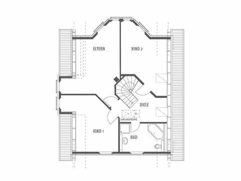 Musterhaus Potsdam - Heinz von Heiden in Berlin & Brandenburg Grundriss OG
