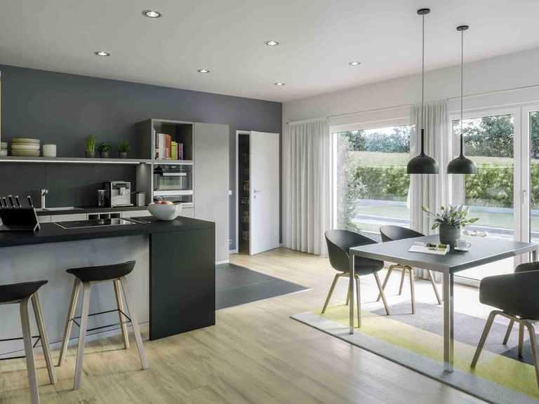 Bungalow AMBIENCE 88 V3 - Bien-Zenker Essbereich und offene Küche
