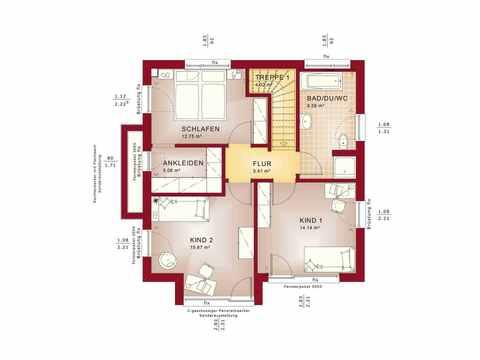 Einfamilienhaus EVOLUTION 124 V9 - Bien-Zenker Grundriss OG