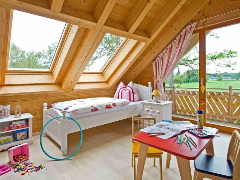 Musterhaus Wismarbucht - Fullwood Wohnblockhaus Kinderzimmer