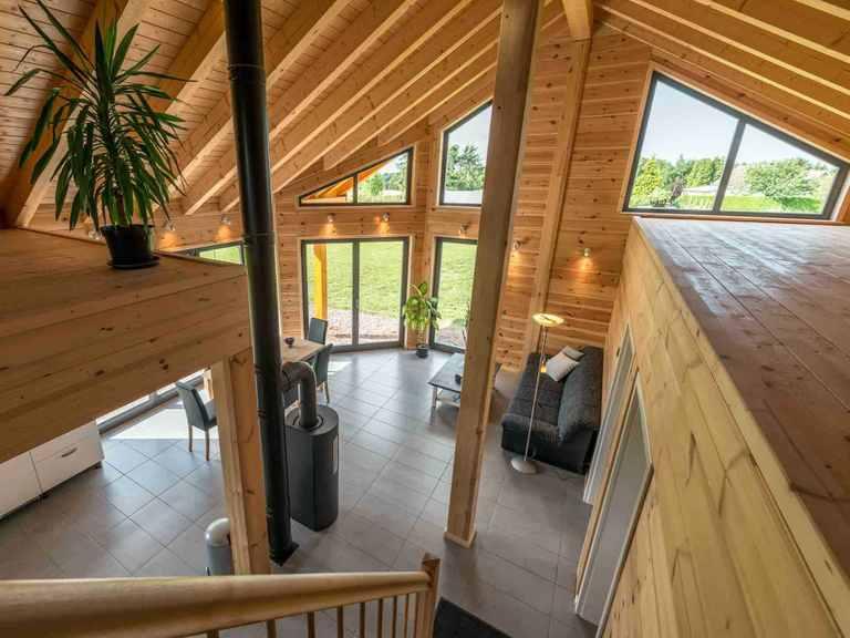 Musterhaus Wismarbucht - Fullwood Wohnblockhaus Wohnbereich