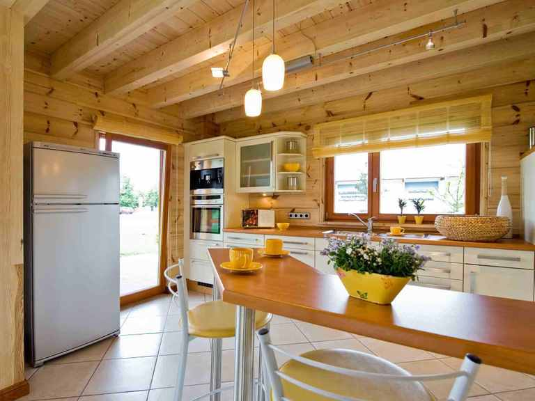 Musterhaus Havelland - Fullwood Wohnblockhaus Offene Küche