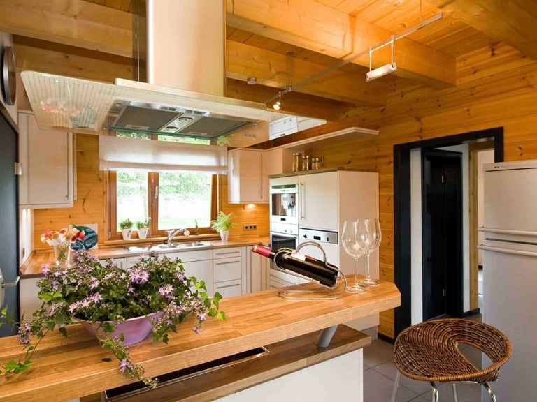 Musterhaus Barkhof - Fullwood Wohnblockhaus Offene Küche