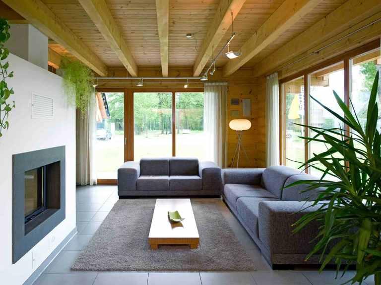 Musterhaus Barkhof - Fullwood Wohnblockhaus Wohnzimmer