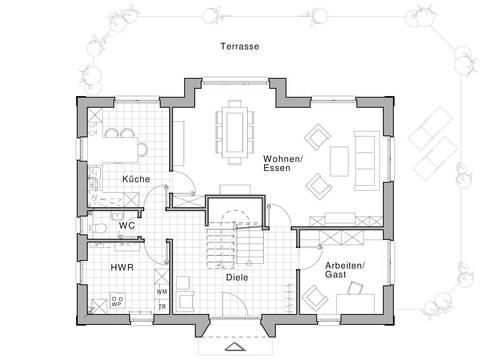 Grundirss EG - Stadtvilla Edition 470 von Viebrockhaus