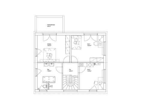 Landhaus Satteldach 151 - LUXHAUS Grundriss DG