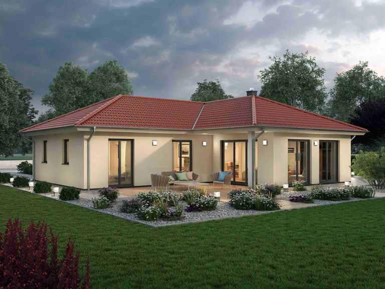 Bungalow 122 - Ytong Bausatzhaus Terrasse