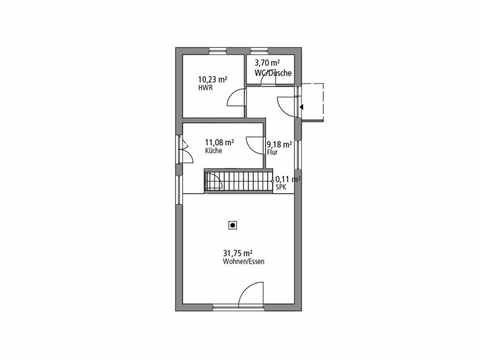 Einfamilienhaus 122 - Ytong Bausatzhaus Grundriss EG