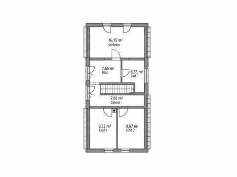 Einfamilienhaus 122 - Ytong Bausatzhaus Grundriss OG
