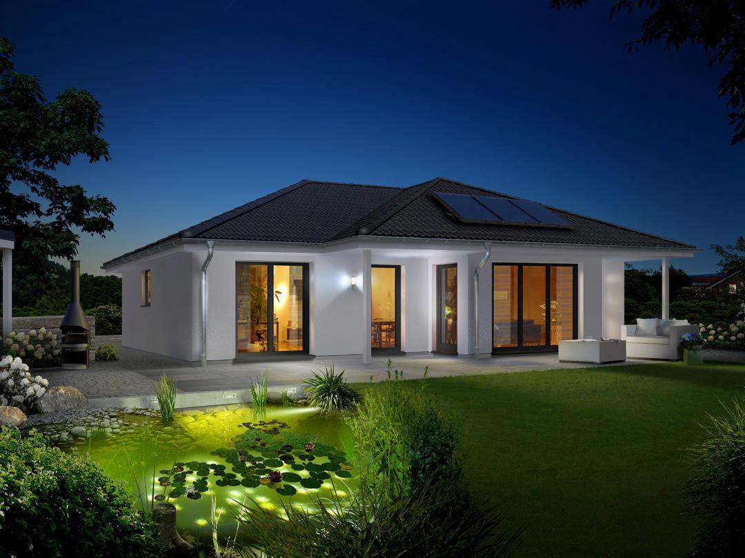 Bungalow 128 Garten Elegance Nacht