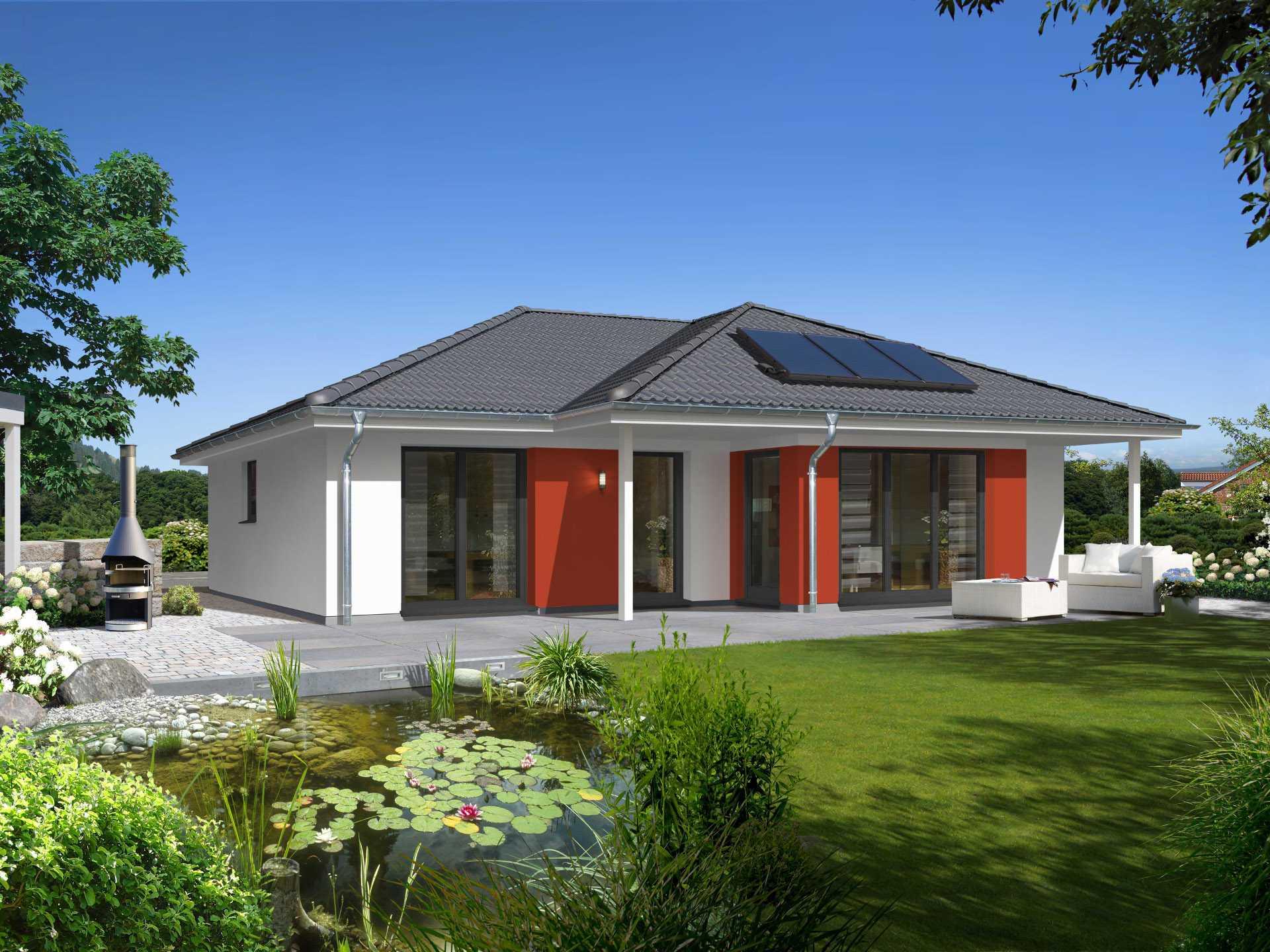 Bungalow 128 town country haus for Haus mit doppelgarage bauen