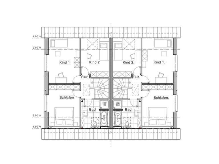 Haus Classico 800 D Grundriss DG von Viebrockhaus