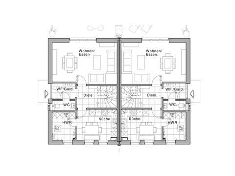 Haus Classico 800 D Grundriss EG von Viebrockhaus
