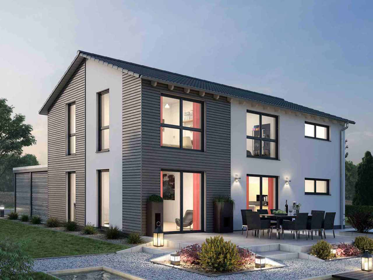 Einfamilienhaus 139 - Ytong Bausatzhaus Terrasse