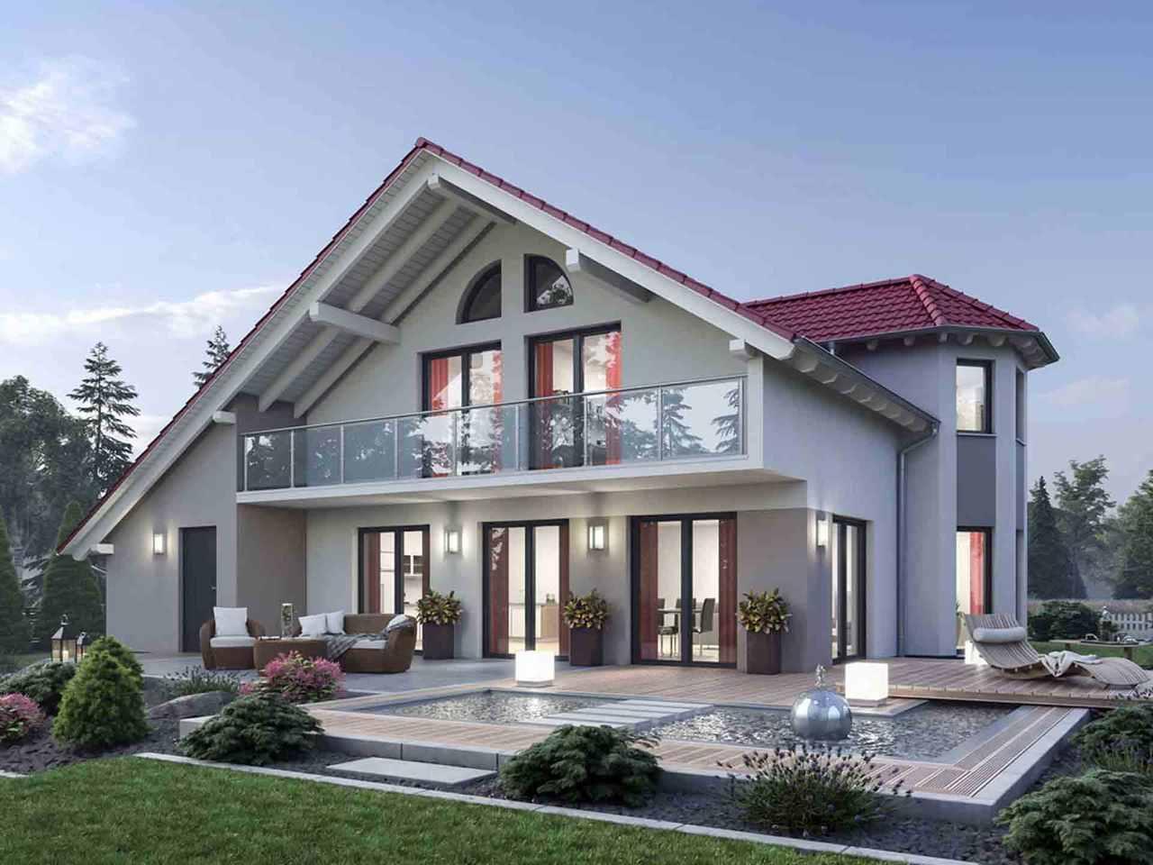 Einfamilienhaus 190 - Ytong Bausatzhaus Terrasse