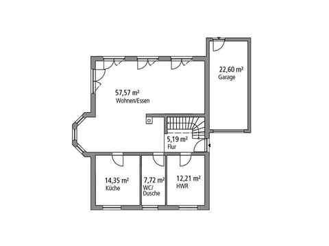 Einfamilienhaus 190 - Ytong Bausatzhaus Grundriss EG