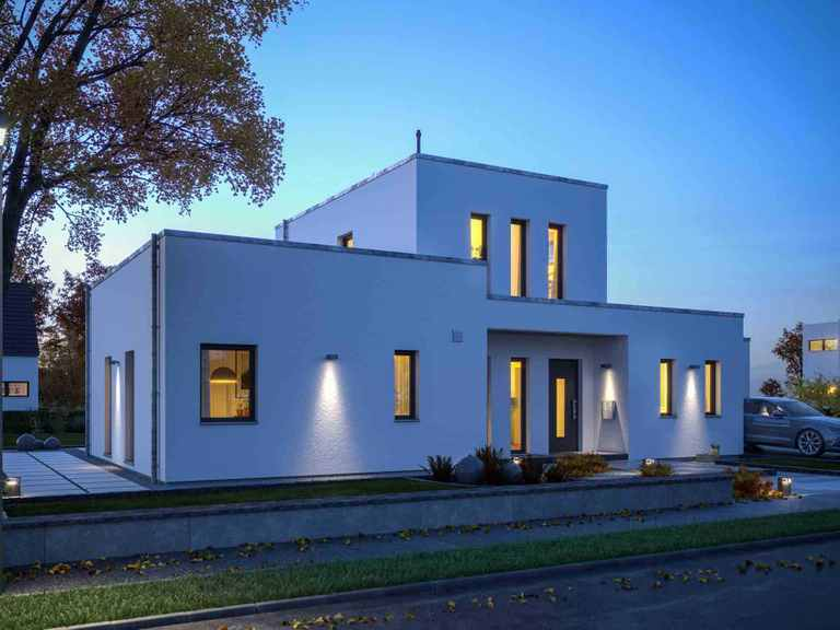Bauhaus LifeStyle 19.04 F - massa haus Eingang am Abend