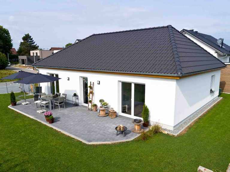 Bungalow Ideal 1000.2 - BauIdee Wohlfühl-Häuser von oben