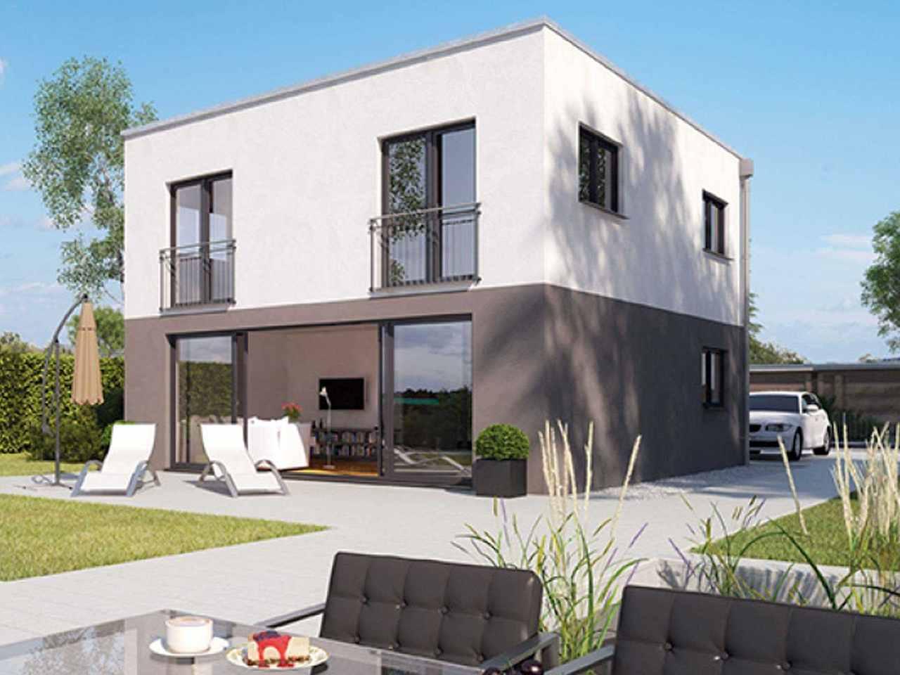 ICON 3 City mit Flachdach - Dennert Raumfabrik