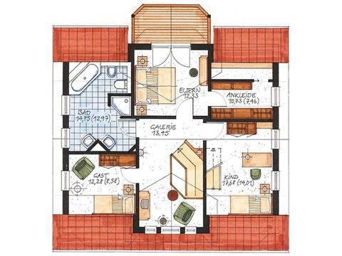 Haus Worpswede Grundriss Dachgeschoss
