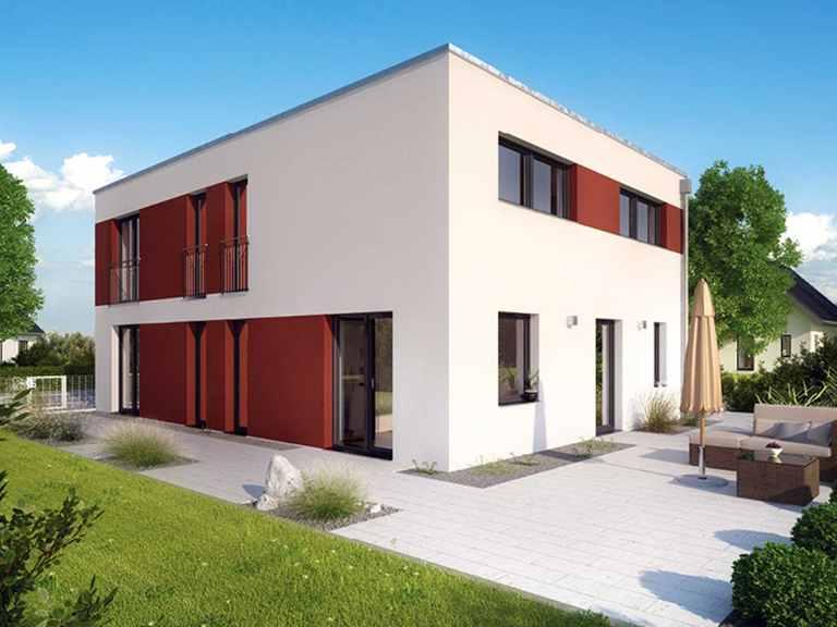 ICON 4 City mit Flachdach - Dennert Raumfabrik