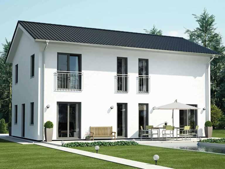 ICON 4 City mit Satteldach - Dennert Raumfabrik