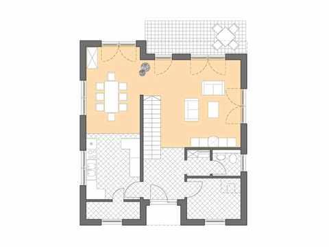 Bauhaus Cubatur 155 - Bau GmbH Roth Hamburg Grundriss EG