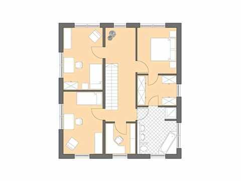 Bauhaus Cubatur 155 - Bau GmbH Roth Hamburg Grundriss OG