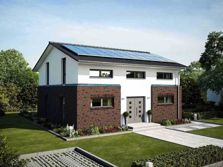 Einfamilienhaus Hamburg - Bau GmbH Roth Hamburg Eingang in Mischfassade