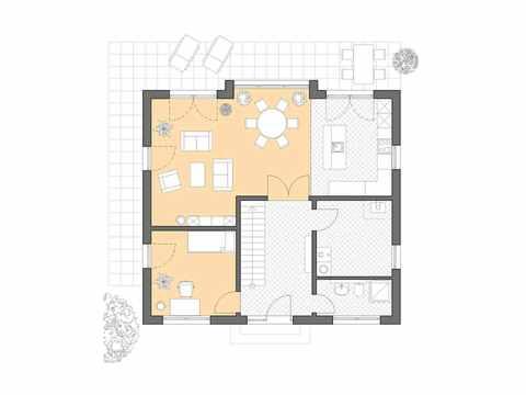 Einfamilienhaus Hamburg - Bau GmbH Roth Hamburg Grundriss EG