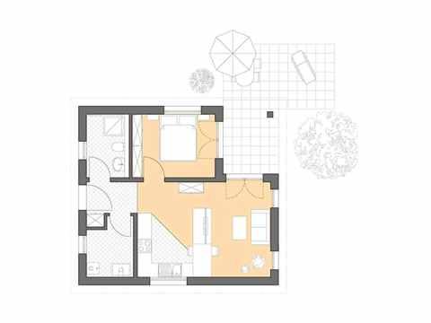 Minihaus Poel - Bau GmbH Roth Hamburg Grundriss EG